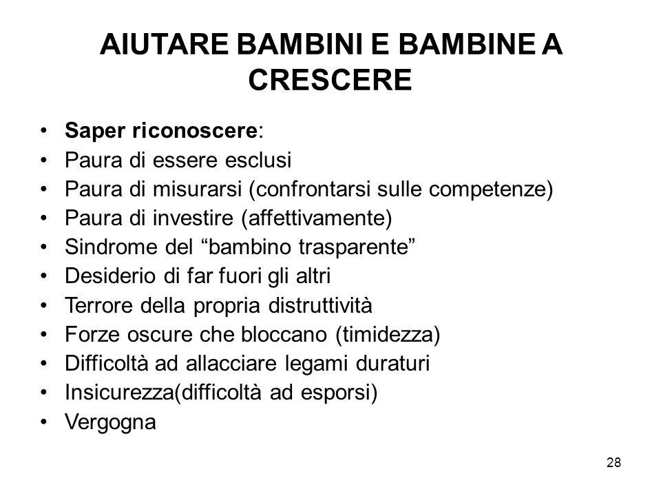 AIUTARE BAMBINI E BAMBINE A CRESCERE