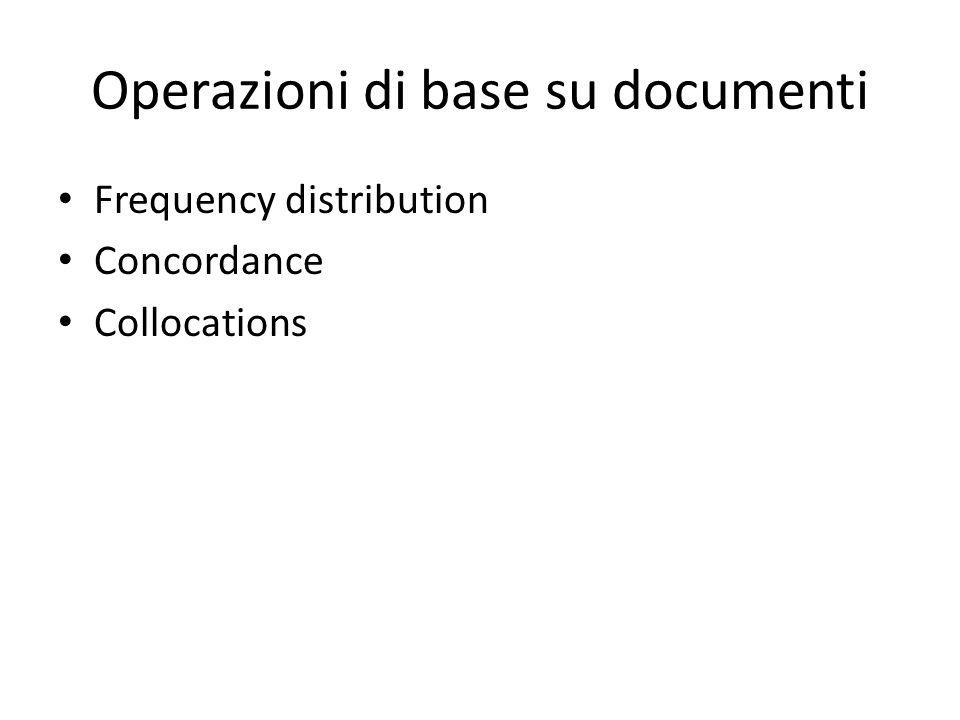Operazioni di base su documenti