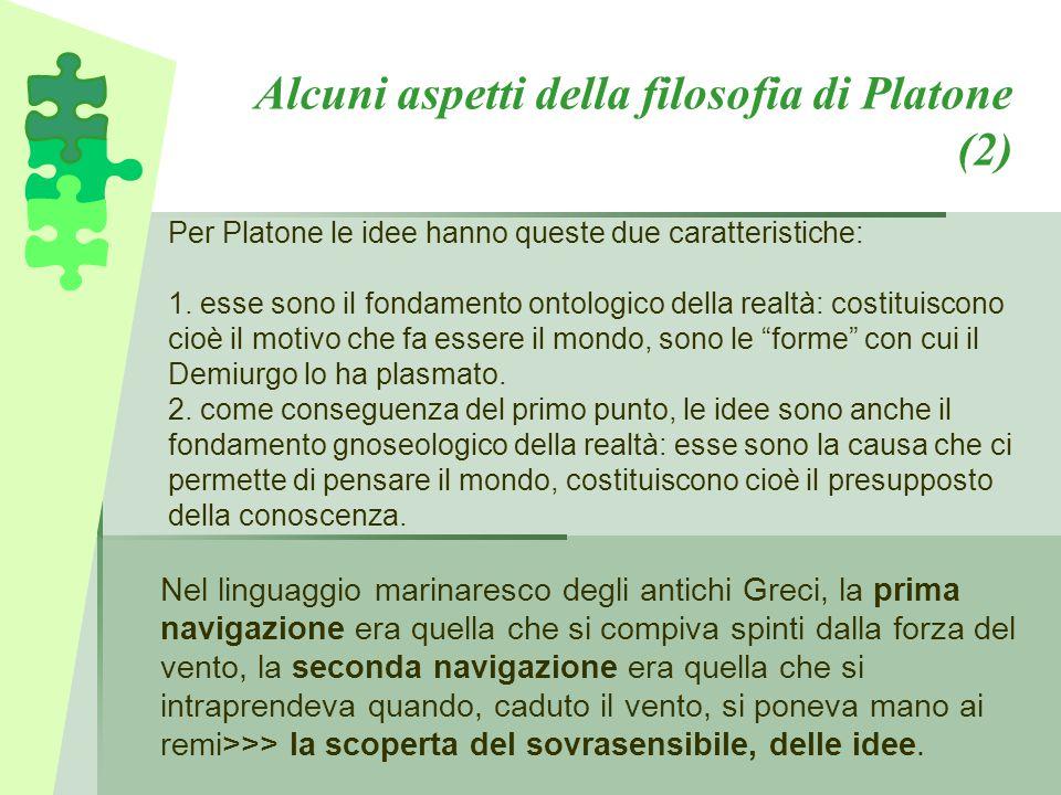 Alcuni aspetti della filosofia di Platone (2)