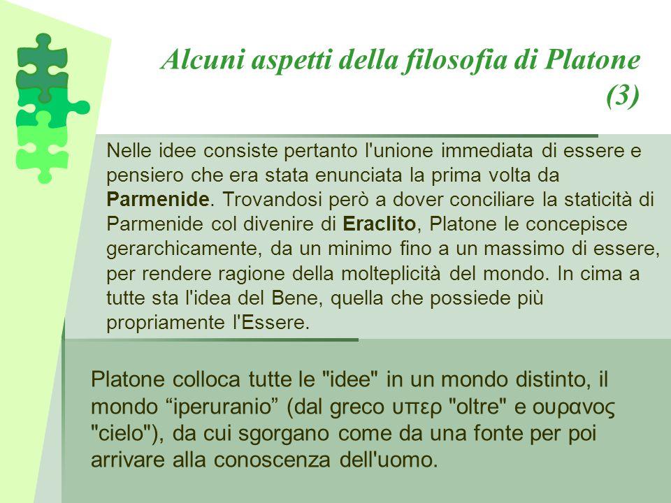 Alcuni aspetti della filosofia di Platone (3)