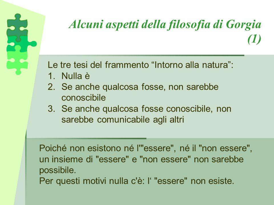 Alcuni aspetti della filosofia di Gorgia (1)