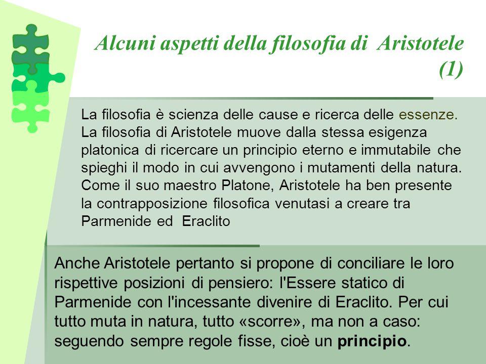 Alcuni aspetti della filosofia di Aristotele (1)