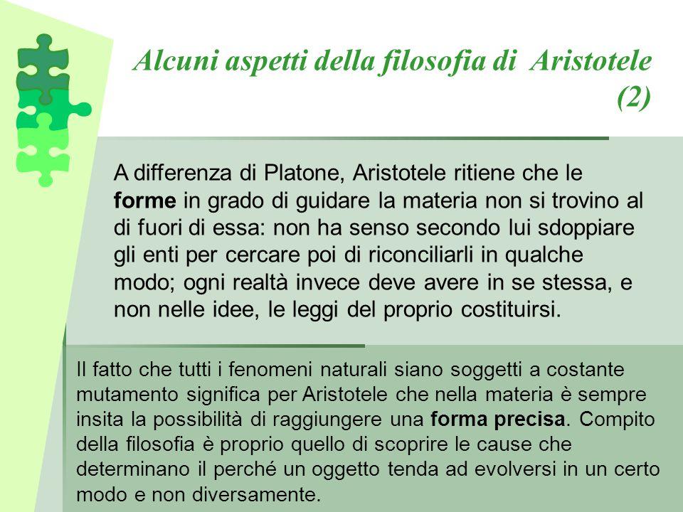 Alcuni aspetti della filosofia di Aristotele (2)