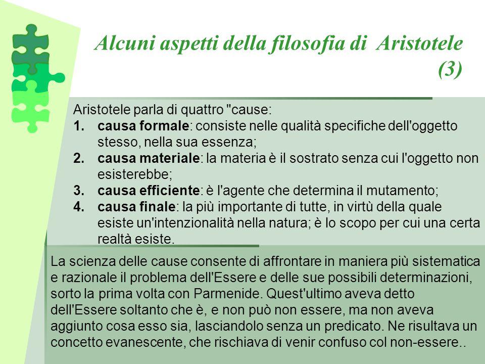 Alcuni aspetti della filosofia di Aristotele (3)