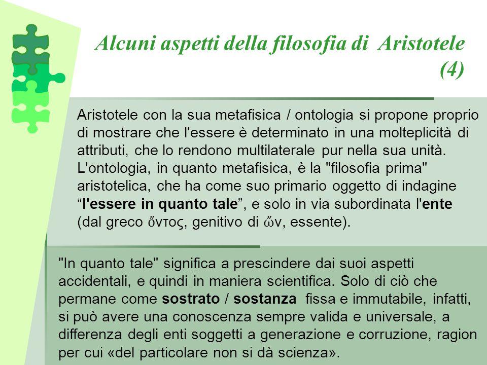 Alcuni aspetti della filosofia di Aristotele (4)