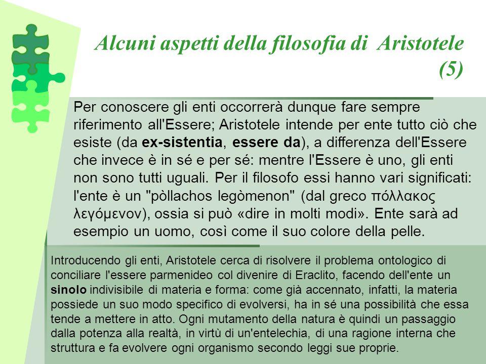 Alcuni aspetti della filosofia di Aristotele (5)