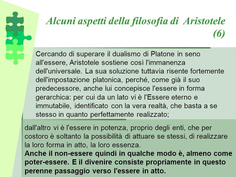 Alcuni aspetti della filosofia di Aristotele (6)