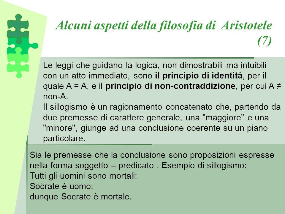 Alcuni aspetti della filosofia di Aristotele (7)