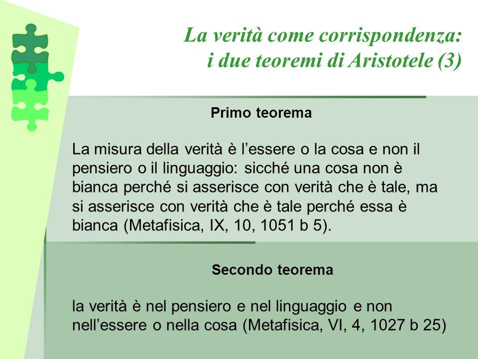 La verità come corrispondenza: i due teoremi di Aristotele (3)