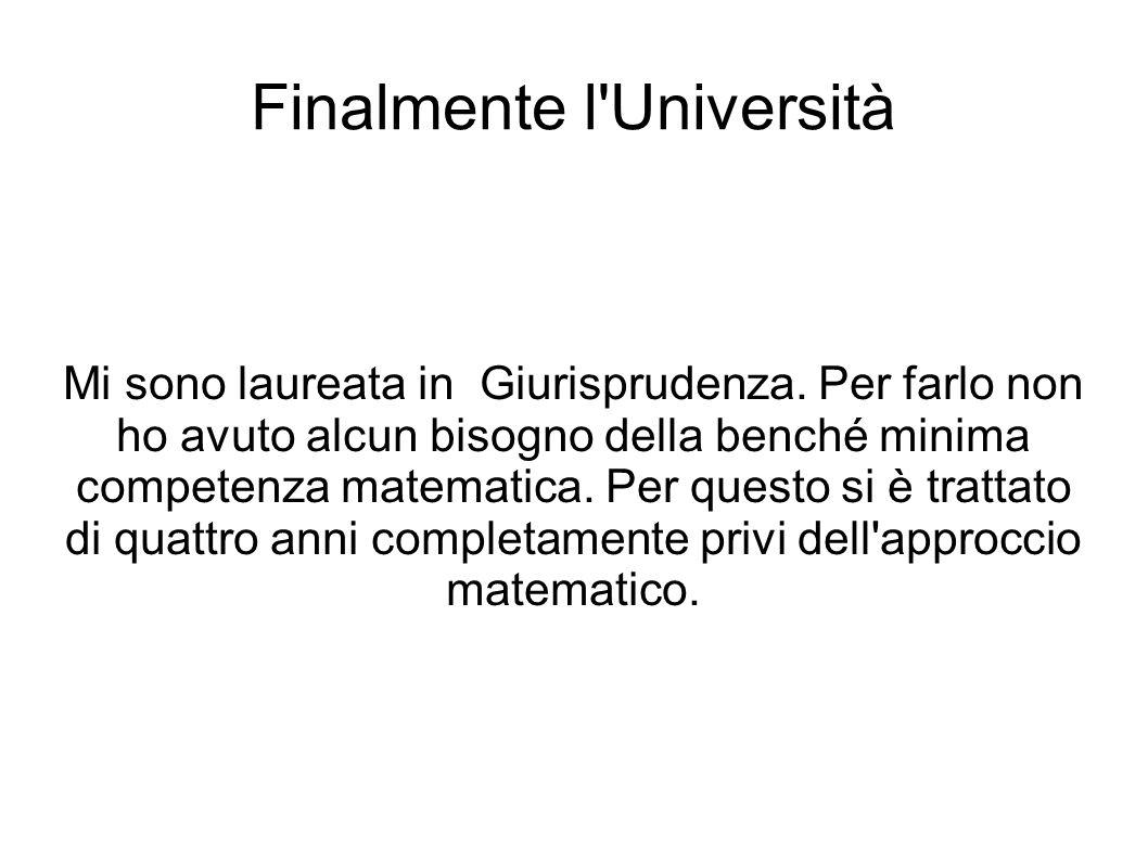 Finalmente l Università