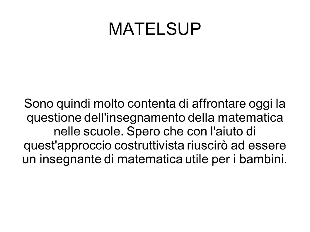 MATELSUP