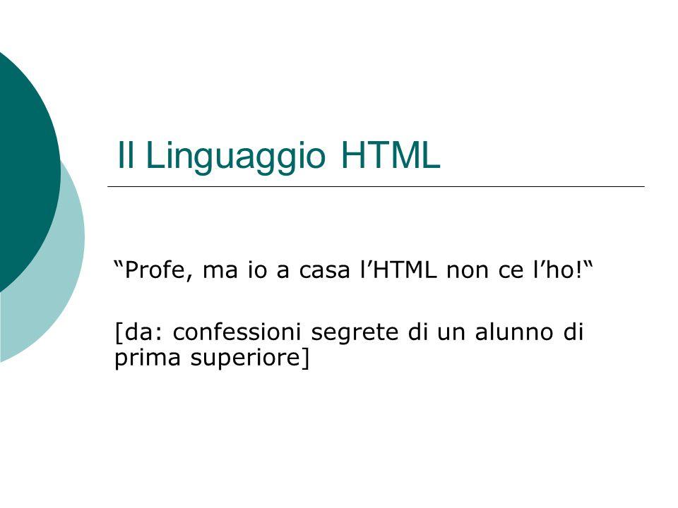 Il Linguaggio HTML Profe, ma io a casa l'HTML non ce l'ho!