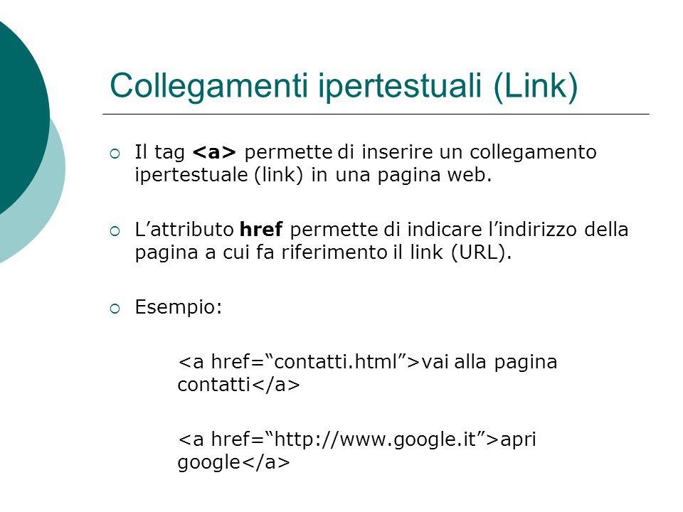 Collegamenti ipertestuali (Link)