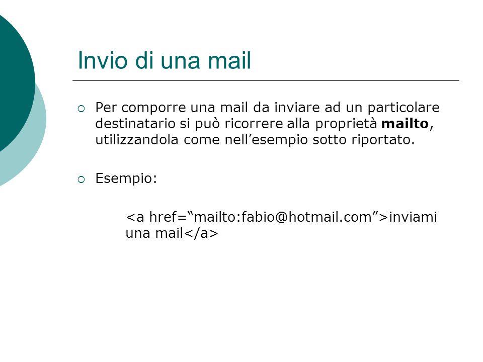 Invio di una mail