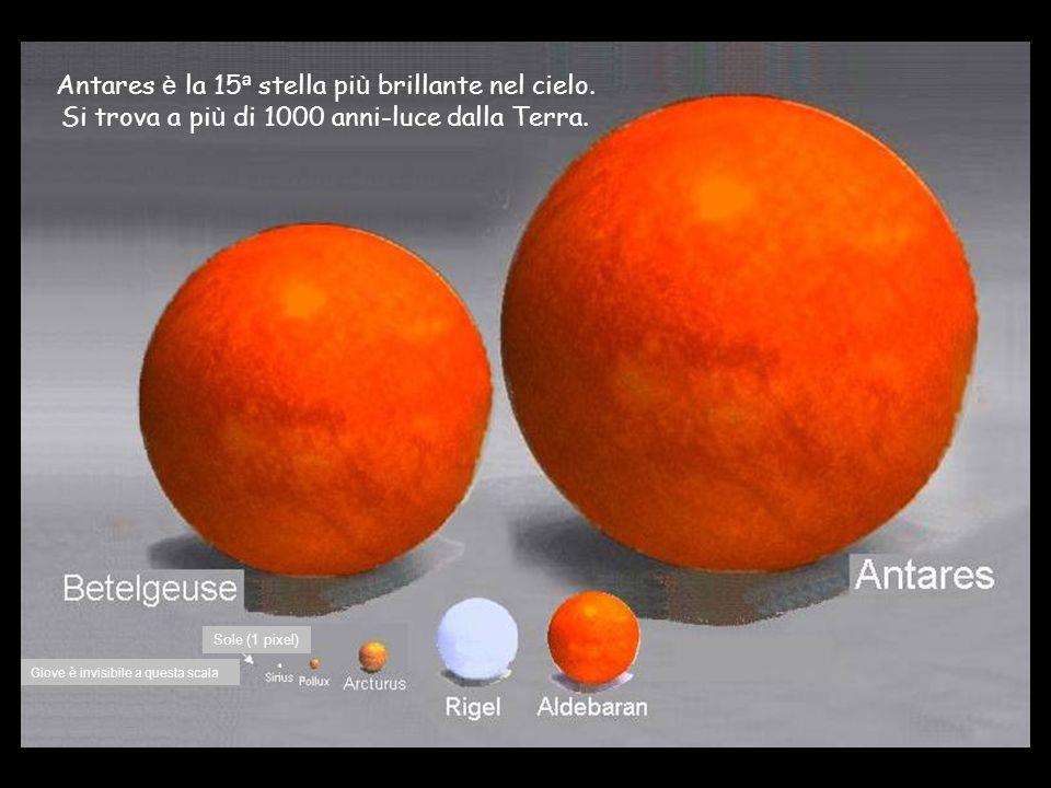 Antares è la 15ª stella più brillante nel cielo.