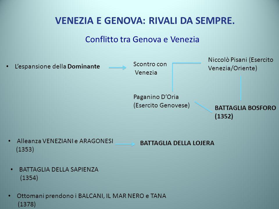 VENEZIA E GENOVA: RIVALI DA SEMPRE.