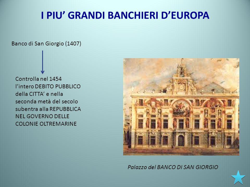 I PIU' GRANDI BANCHIERI D'EUROPA