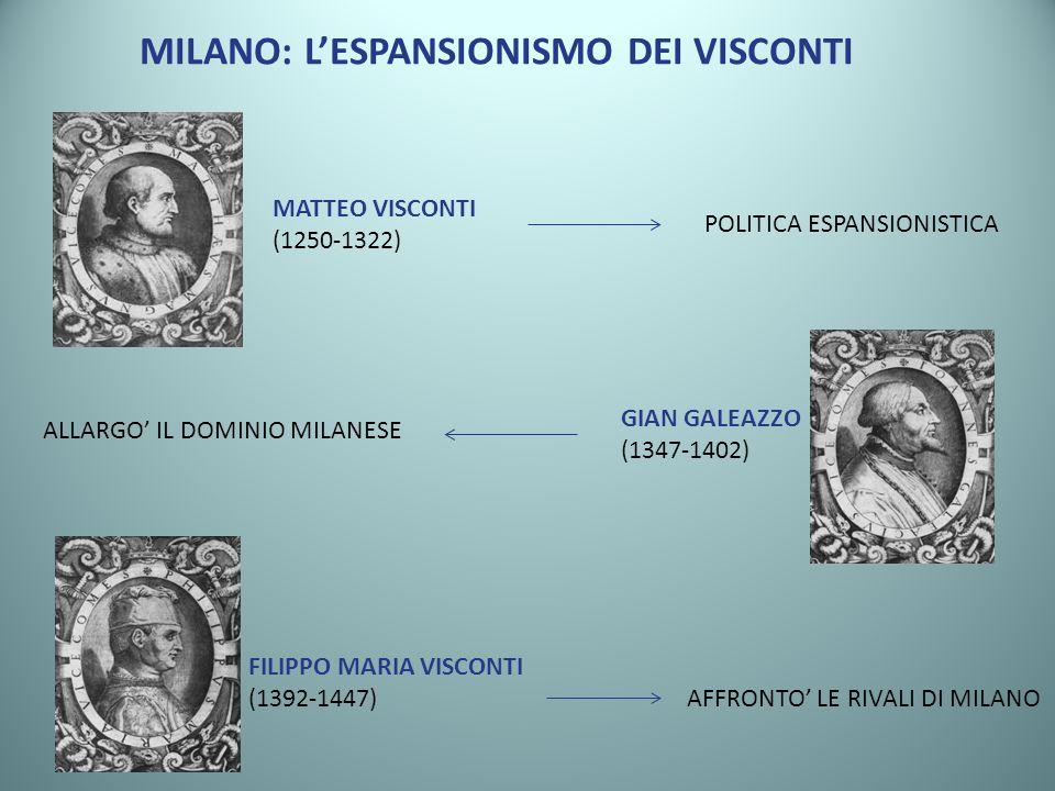 MILANO: L'ESPANSIONISMO DEI VISCONTI