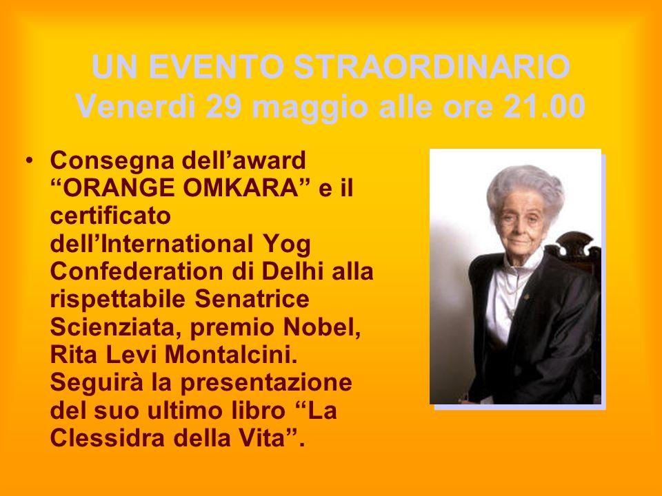 UN EVENTO STRAORDINARIO Venerdì 29 maggio alle ore 21.00