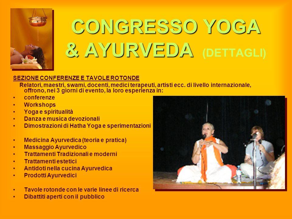 CONGRESSO YOGA & AYURVEDA (DETTAGLI)