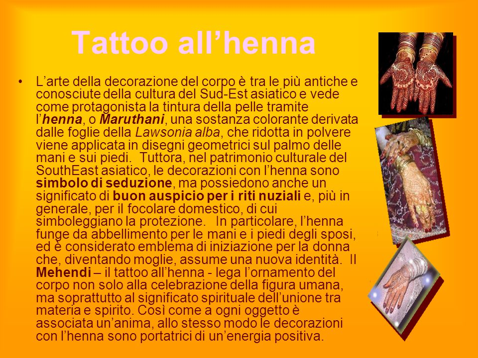 Tattoo all'henna