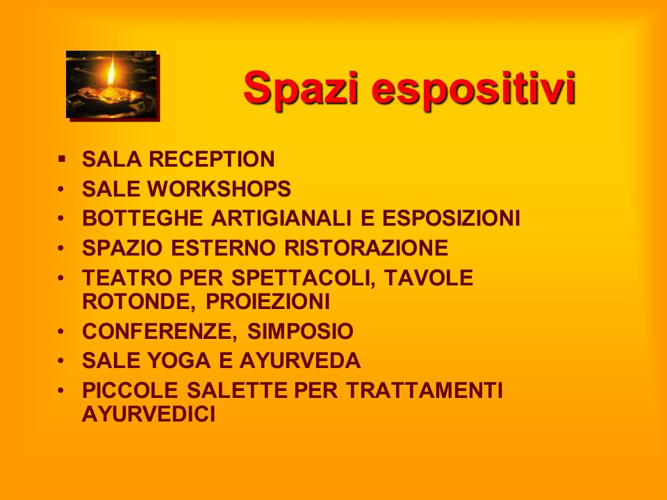 Spazi espositivi SALA RECEPTION SALE WORKSHOPS