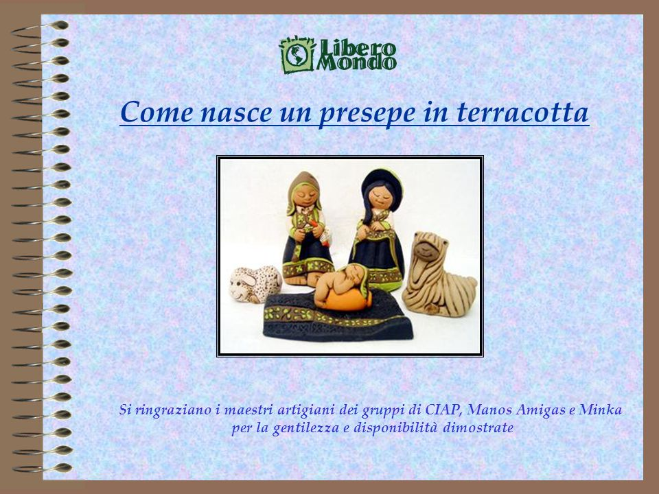 Come nasce un presepe in terracotta