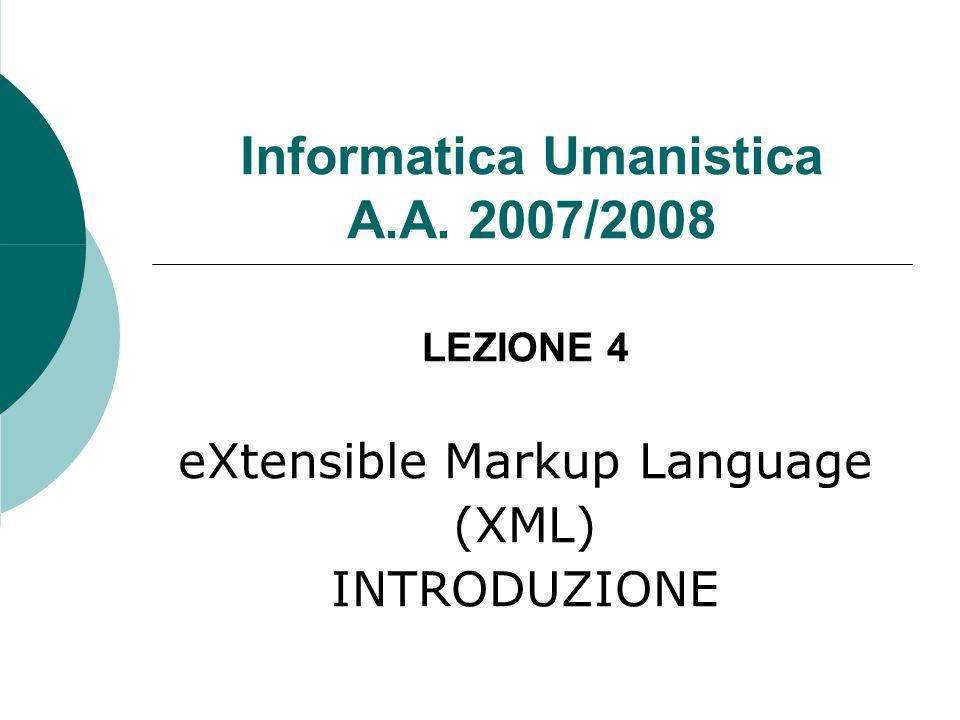 Informatica Umanistica A.A. 2007/2008
