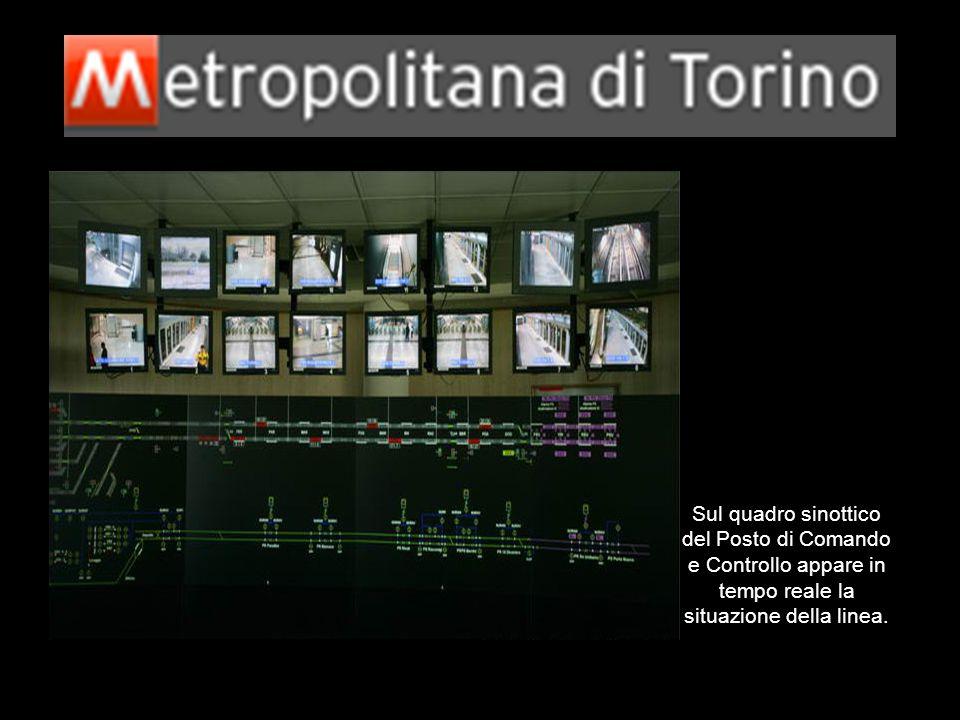Sul quadro sinottico del Posto di Comando e Controllo appare in tempo reale la situazione della linea.
