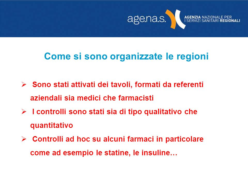 Come si sono organizzate le regioni