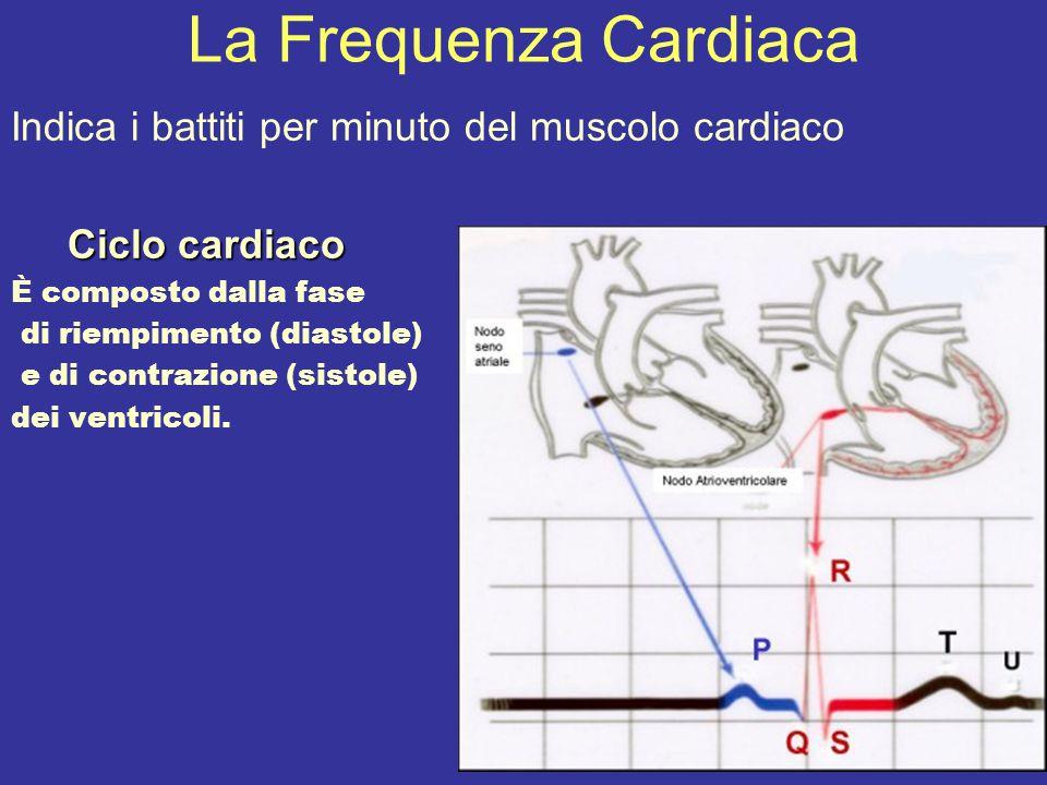 La Frequenza Cardiaca Indica i battiti per minuto del muscolo cardiaco