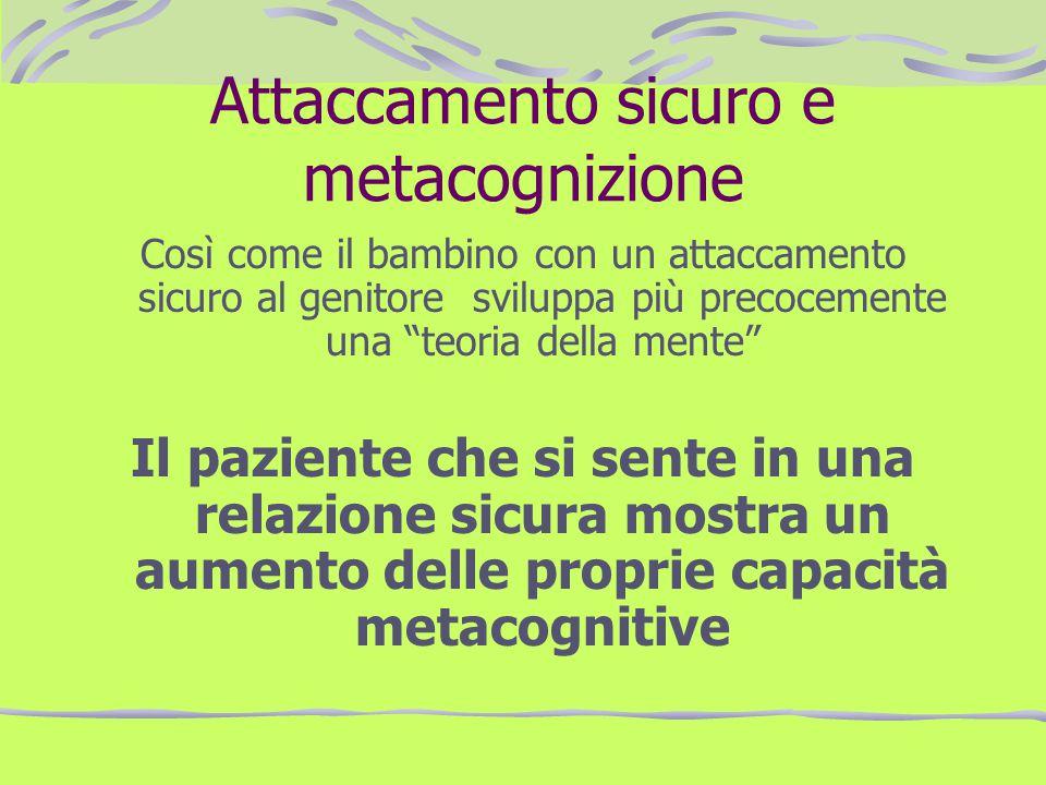 Attaccamento sicuro e metacognizione