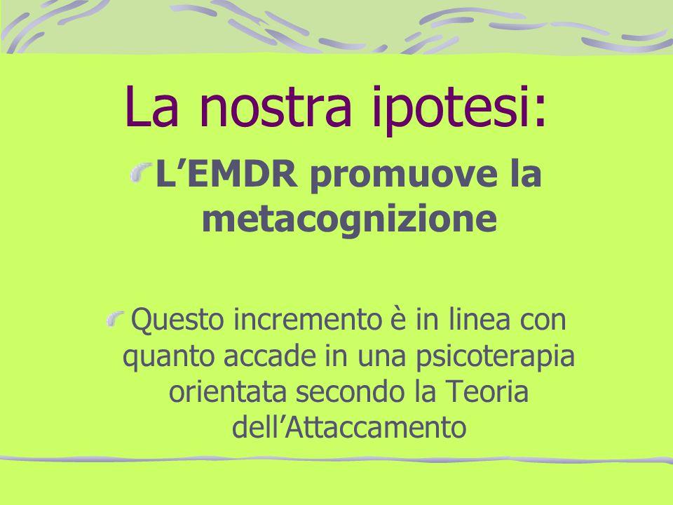 L'EMDR promuove la metacognizione