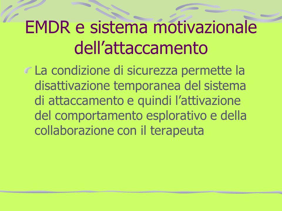 EMDR e sistema motivazionale dell'attaccamento