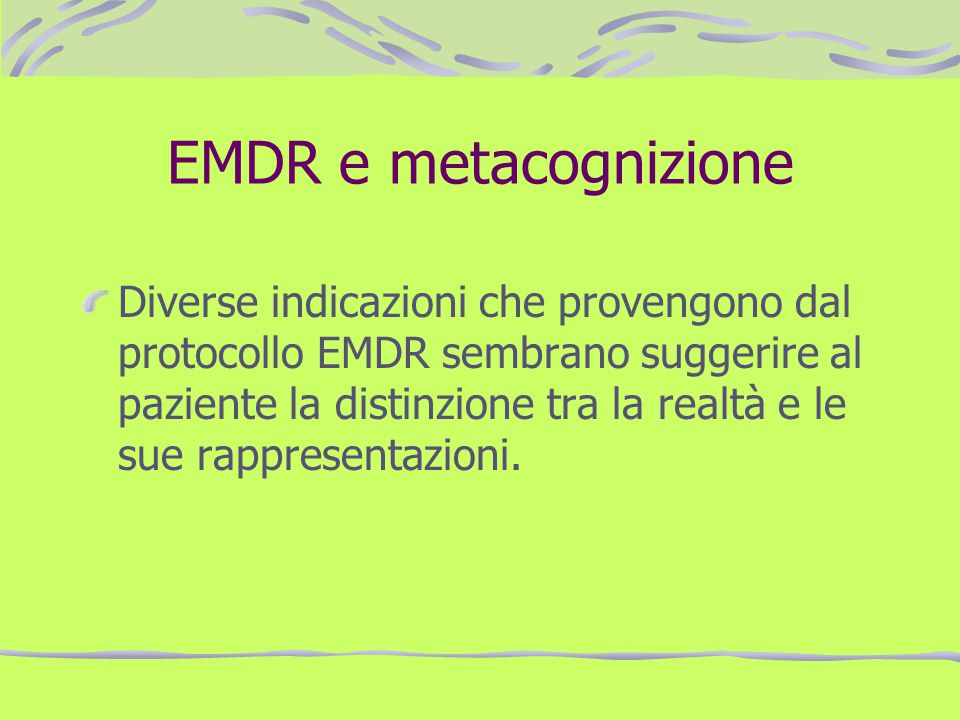 EMDR e metacognizione