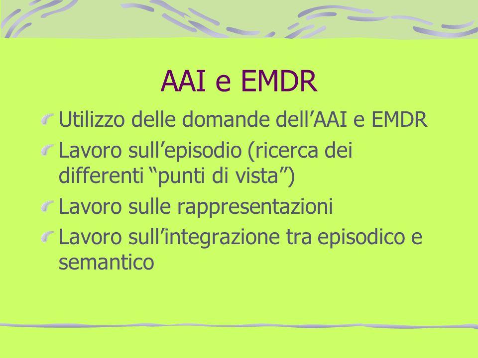 AAI e EMDR Utilizzo delle domande dell'AAI e EMDR