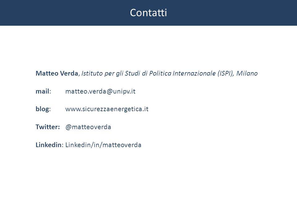 Contatti Matteo Verda, Istituto per gli Studi di Politica Internazionale (ISPI), Milano. mail: matteo.verda@unipv.it.