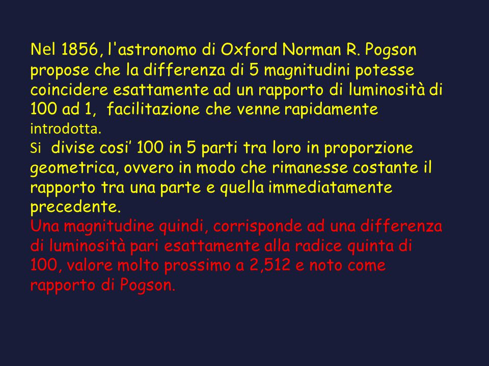 Nel 1856, l astronomo di Oxford Norman R