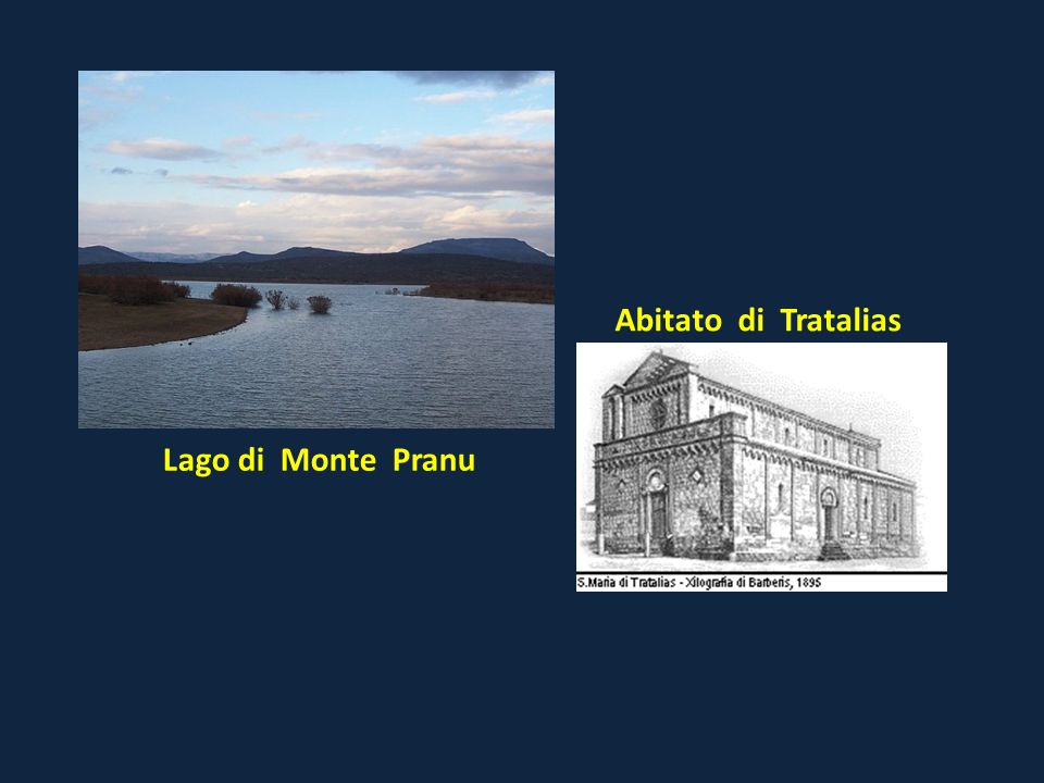 Abitato di Tratalias Lago di Monte Pranu