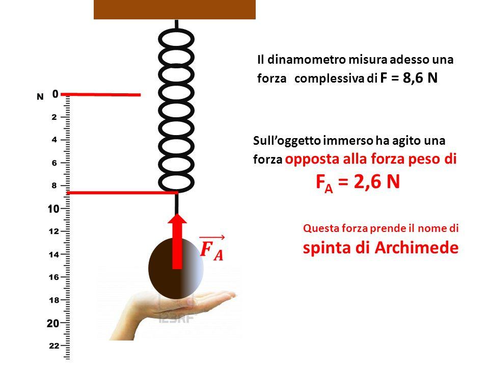 Questa forza prende il nome di spinta di Archimede