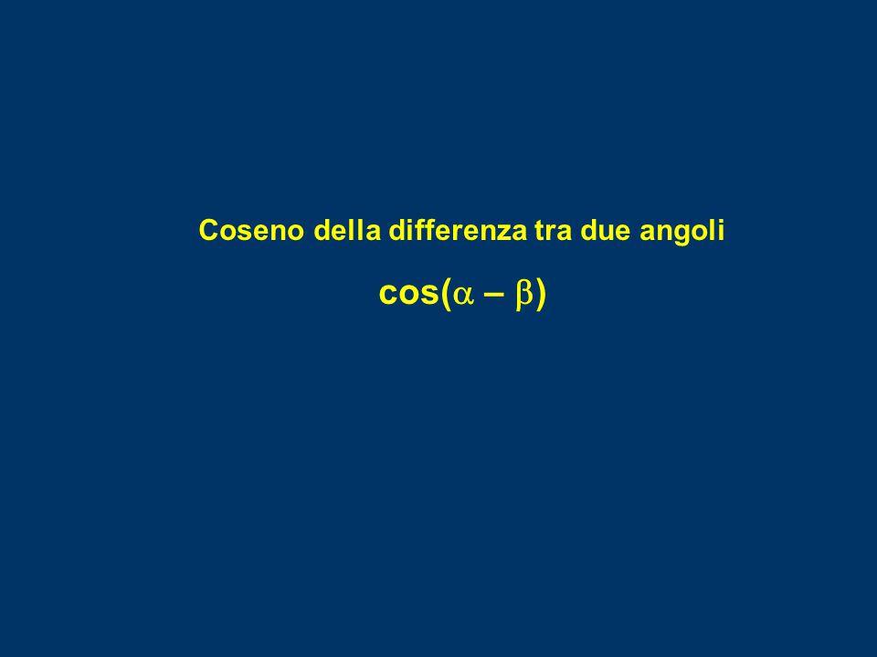 Coseno della differenza tra due angoli