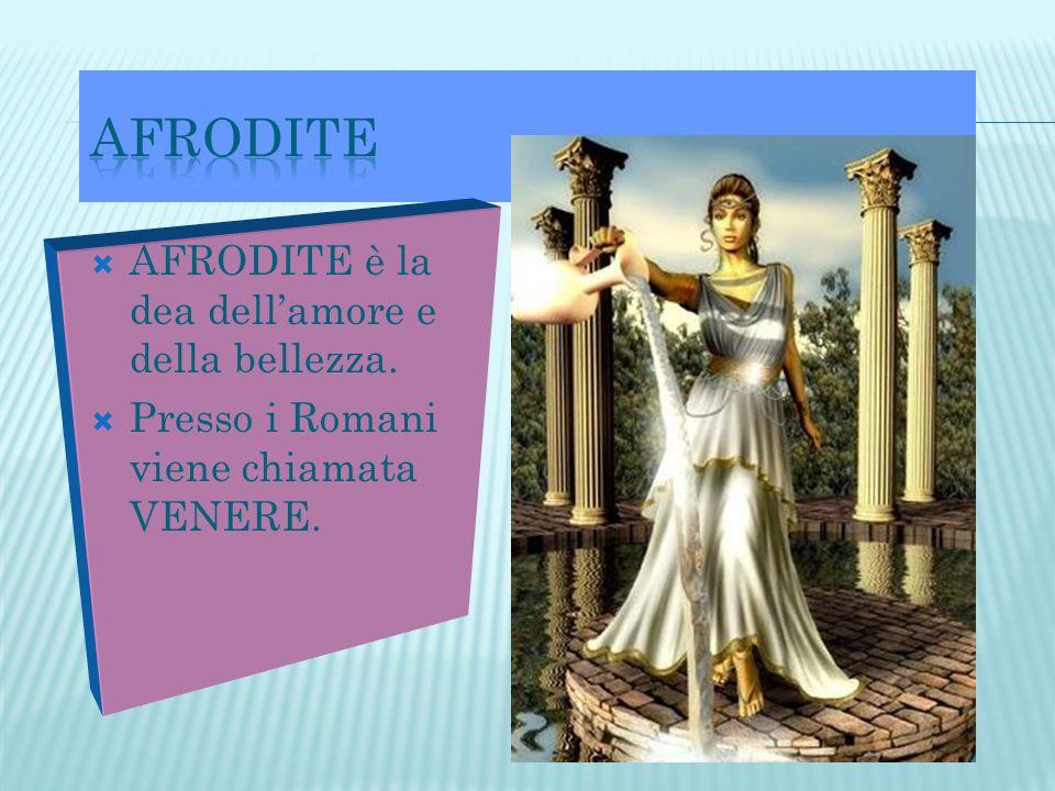 AFRODITE AFRODITE è la dea dell'amore e della bellezza.