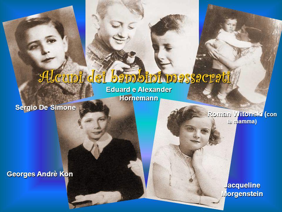 Alcuni dei bambini massacrati