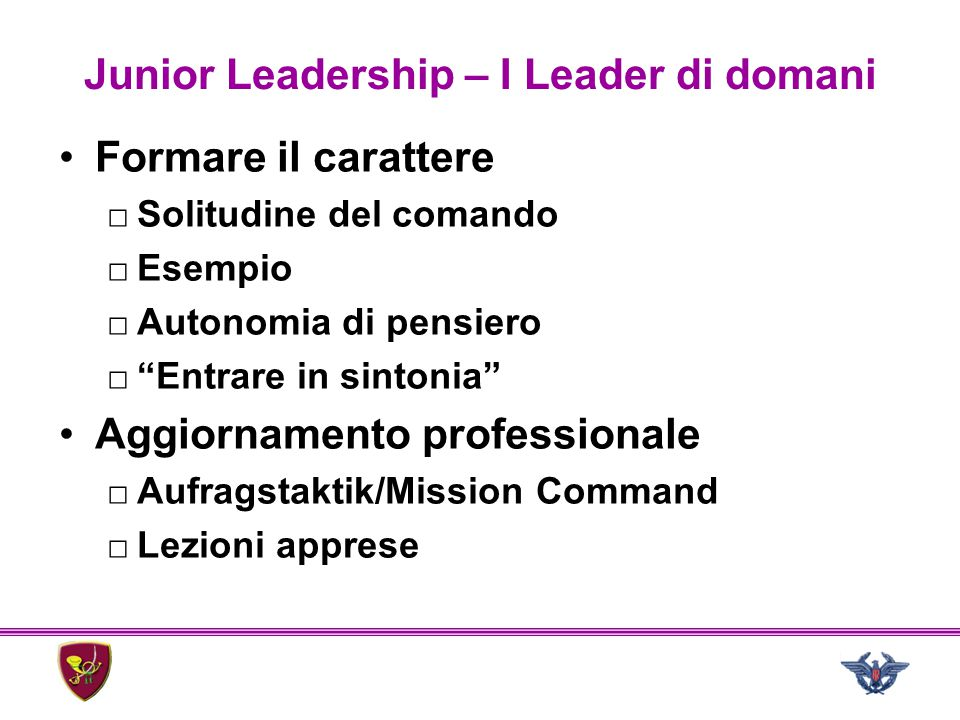 Junior Leadership – I Leader di domani