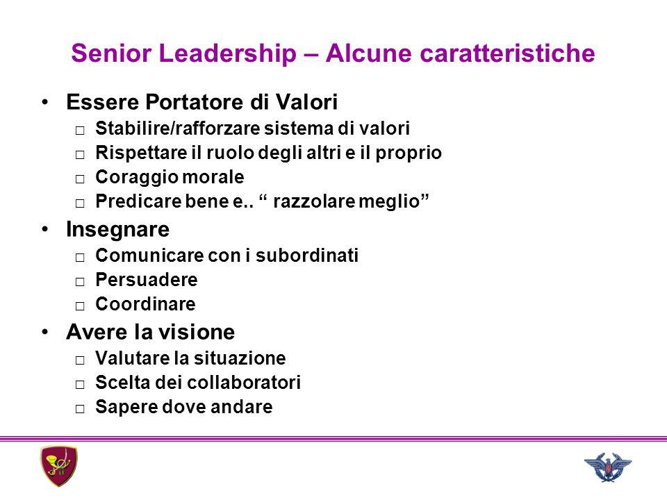 Senior Leadership – Alcune caratteristiche