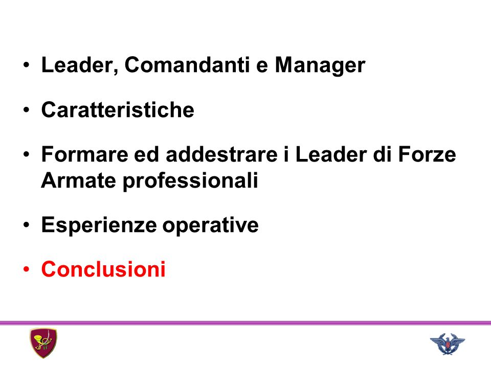 Leader, Comandanti e Manager