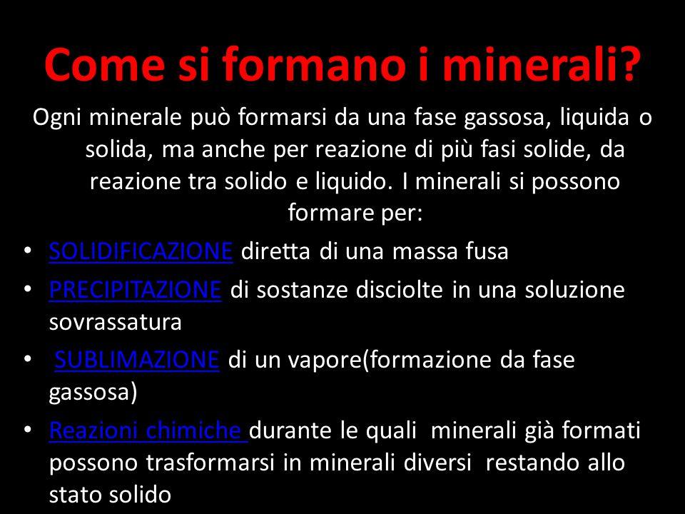 Come si formano i minerali