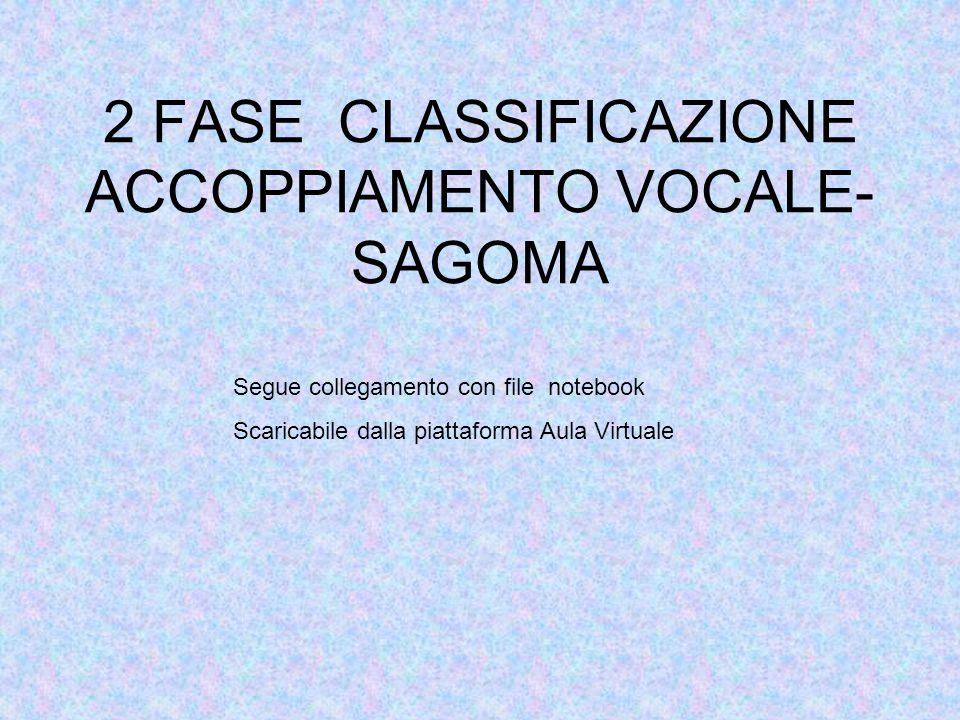 2 FASE CLASSIFICAZIONE ACCOPPIAMENTO VOCALE-SAGOMA