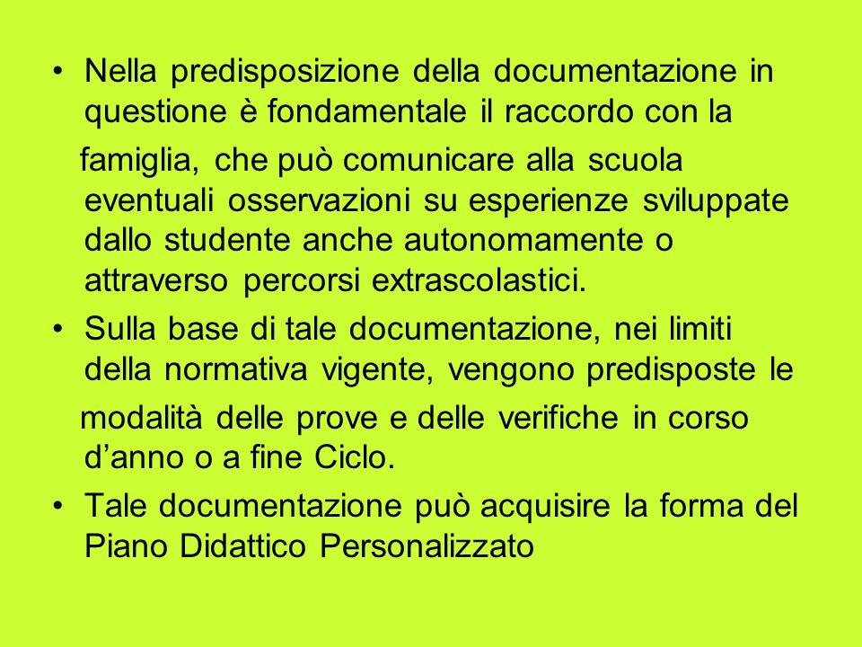 Nella predisposizione della documentazione in questione è fondamentale il raccordo con la
