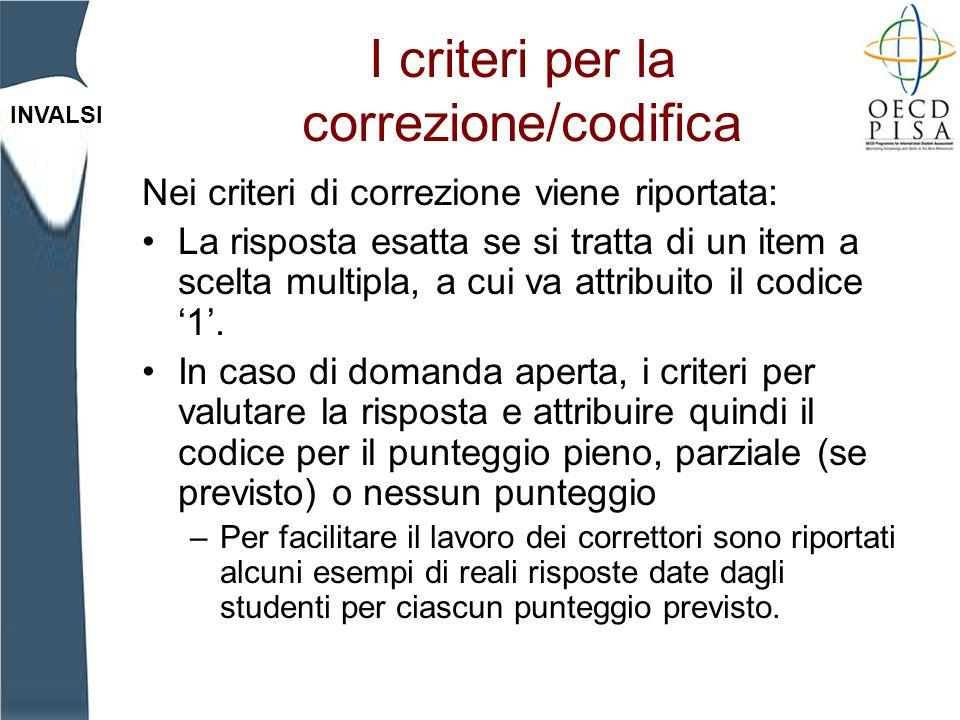I criteri per la correzione/codifica